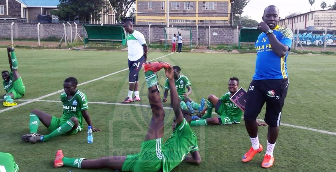 Photo of Onyango happy with Gor Mahia Youth performance